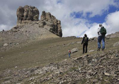 Climbing Castle peak